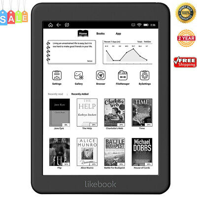 Likebook Mars T80D 7.8 inch eBook Android 6.0 Octa Core 2GB 16GB Protect Eyes