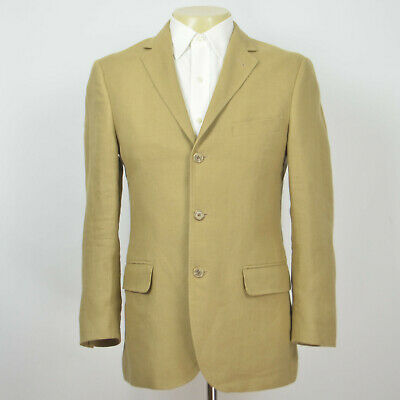 Mint J CREW Aldridge 100% Linen Three Button Khaki Sport Coat Sz 38S