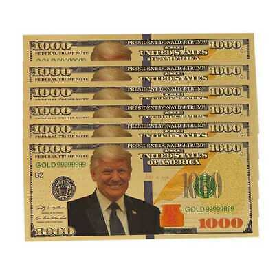 10pcs US Donald Trump Commemorative Coin President Banknote Non-currency $1000