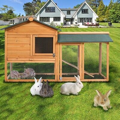 LARGE 2 TIER Rabbit Hutch / Guinea Pig Run / Deluxe Pet Hutches / Cage Pets NEW