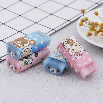 1X Cartoon Animal Mini Cute Eraser For Kid Rubber For Pencil Stationery Suppl MO