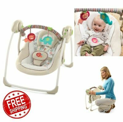 NEW Electric Rocker Baby Swing Infant Portable Cradle Bouncer Seat Sway Chair