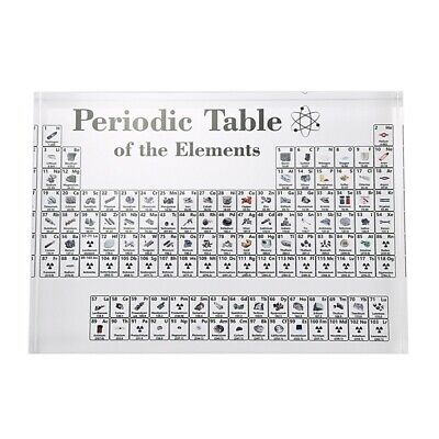 Acrylic Periodic Table Display with Elements Table Display, with Elements S T6Z3