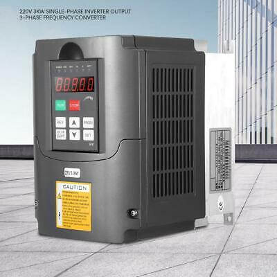 220V 3KW Single-phase Inverter 3-Phase Frequency Converter PLC 16 Speed Control
