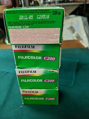 4 ROLL OF FUJICOLOR C200 24exp FILM - OUTDATED