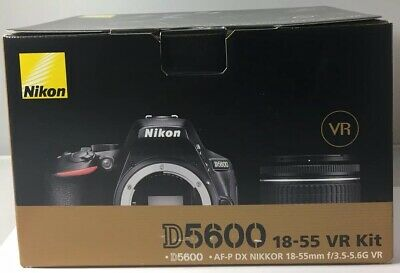 Nikon D5600 Digital SLR Camera + AF-P DX Nikkor 18-55mm f/3.5-5.6G VR Brand New