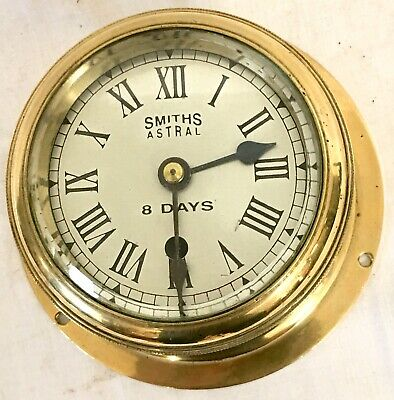 A Very Little Brass Ships Clock Smiths Astral 8 Day