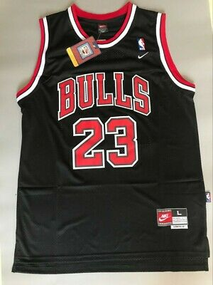 NWT Michael Jordan Chicago Bulls Throwback Swingman Jersey Black Size S-XXL