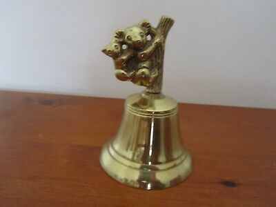 Solid Brass Bell Desk Top Counter Australian Koalas