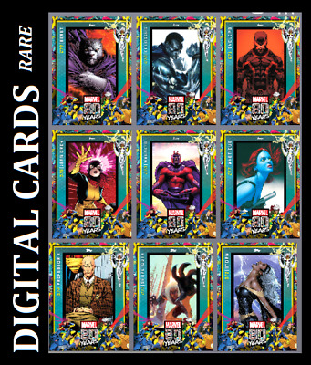 Topps Marvel Collect Card Trader 80 Years Celebration Variant Wave 8 [Set 9Card]