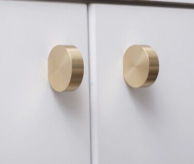 Satin Brass Cabinet Knob Drawer Pull