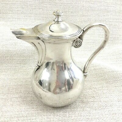 Christofle Silver Plated Jug Pitcher Lidded Pot Original French Antique