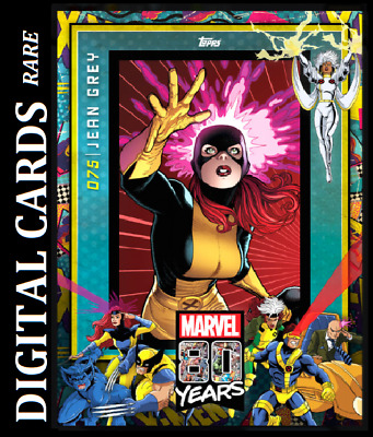Topps Marvel Collect Card Trader 80 Years Celebration Variant Wave 8 Jean Grey