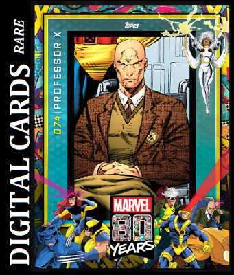 Topps Marvel Collect Card Trader 80 Years Celebration Variant Wave 8 Professor X