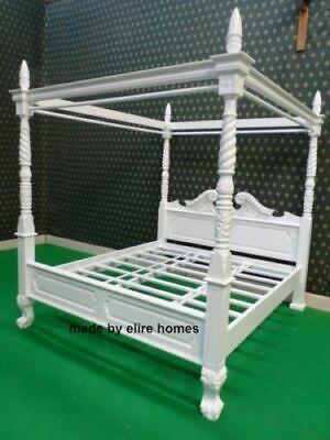 BESPOKE 5'  King size Queen Anne Style four poster st james mahogany french bed