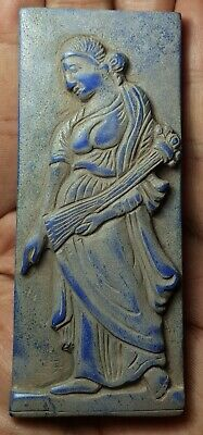 Wonderfull roman princess  old lapiz tile relief