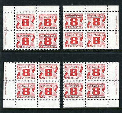 CANADA Scott J34a - NH - Matched Set - 8¢ Fourth Red Postage Due Issue (.020)