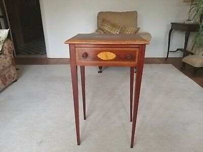 Antique square table with drawer