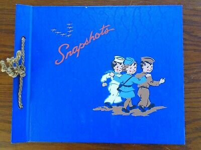 WWII home front snapshots photo album. military personnel & planes V for victory