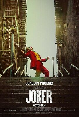 "Joker Poster 48x32"" 36x24"" 21x14"" Movie Film Joaquin Phoenix 2019 Print Silk"