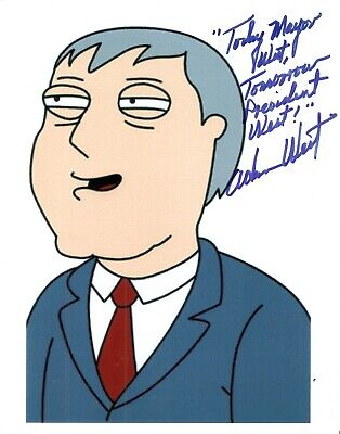 Adam West Deceased-2017 wrote about MAYOR too PRESIDENT autograph 8x10 picture
