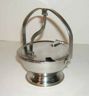 Vintage Stainless Steel Sugar Bowl Salt Cellar Flip Top Legion Utensils