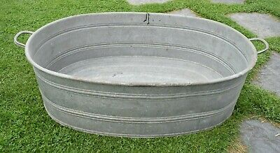 Old Washtub with Drain from Anchor - Oval - Planter. (204-19)