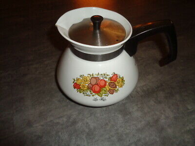 Corningware Teapot - Spice of Life  Pattern
