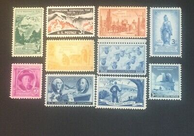10 Mint Never Hinged(Unused)Vintage All Different 3 cent stamps...Lot 30