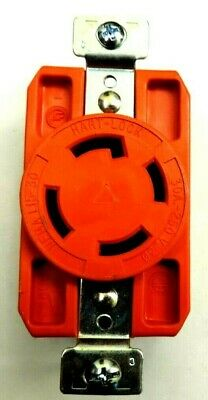 COOPER HART-LOCK  30A 250V TWIST LOCK NEMA L15-30R GRADE RECEPTACLE ORANGE 3-Ph