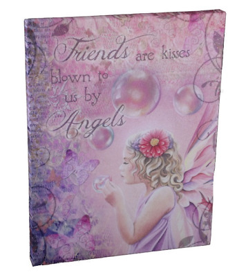 "Friends are Kisses Blown to us by Angels Plaque by Jessica Galbreth 10"" x 7"""