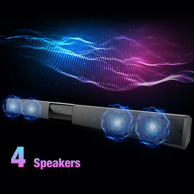 4 Speakers 3D Surround Sound Bar System Bluetooth Wireless Soundbar Home Remote