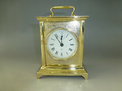Rare Antique German Brass Case Chiming Mechanical Carriage Clock (Watch Video)