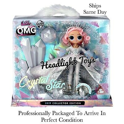 LOL Surprise OMG CRYSTAL STAR Collector Doll Winter Disco Glitter Globe Preorder