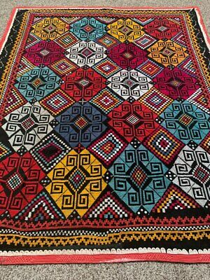 Vintage Hand Embroidery Uzbek Wall Hanging Velvet Tablecloth Best Gift Suzani