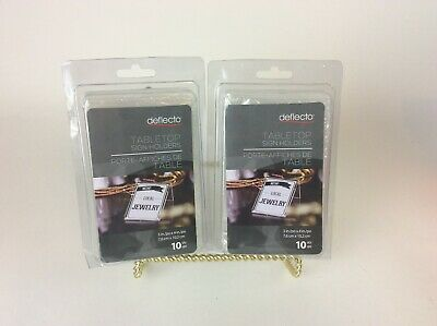 "Deflecto Mini Tabletop Sign Holder 4 1/8""H x 3""W x 1 5/8""D, Clear Pack Of 20 new"