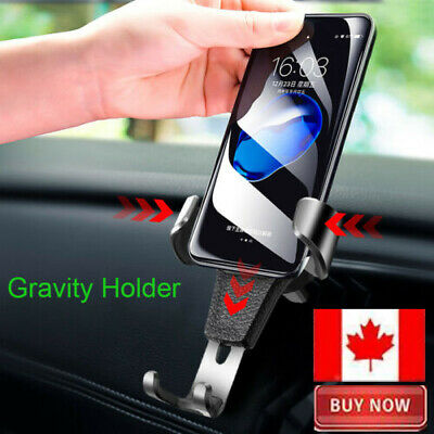 Gravity Car Phone Holder Air Vent Mount Stand for iPhone 7 8 X Samsung S8 S9 CA