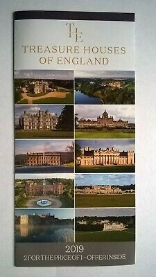 'Treasure Houses of England'  -  2 FOR 1 OFFER - 2019.