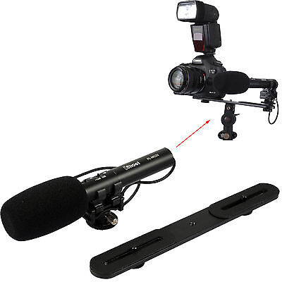 Pro Stereo Microphone MIC+ Metal Holder for Digital Camera Video Camcorder DC DV