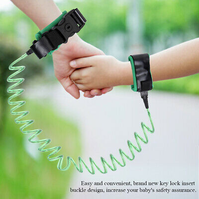 Hot! 2.5M Baby Kids Anti Lost Wrist Leash with Safety Key Lock Toddler Harness