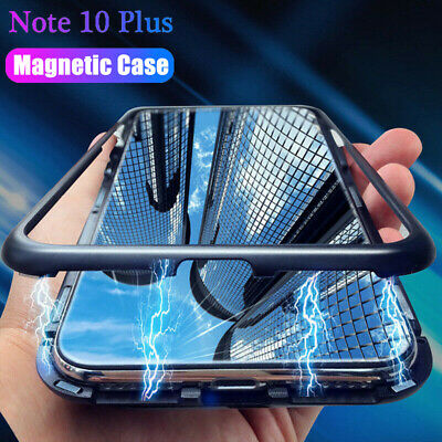 Magnetic Adsorption Tempered Glass Case Cover For Samsung Note 10 Plus S10/9 A70