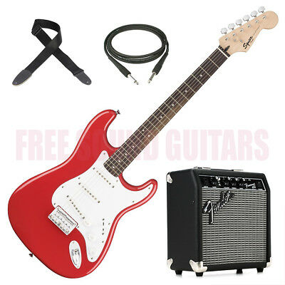 FENDER Squier Bullet Stratocaster HT KIT AMPLIFICATORE + TRACOLLA + CAVO