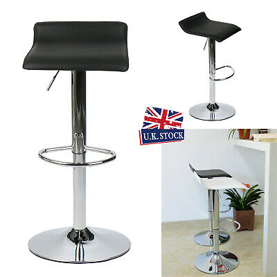 2× Bar Stools Faux Leather Barstools Swivel Kitchen Dining Breakfast Bar Chair