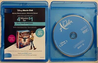 Disney Aladdin Live Action Blu Ray 1 Disc Only + Case No Art Work 2019 Will Smit