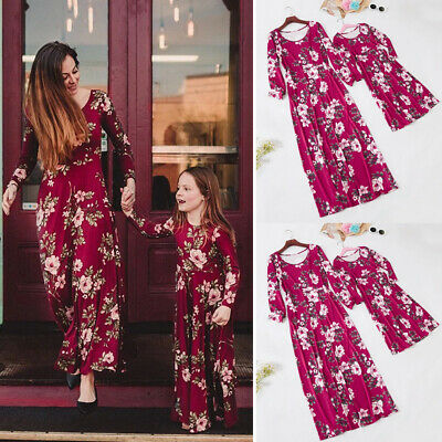 2019 New Mother and Daughter Dress Family Matching Outfits Parent-child Clothes