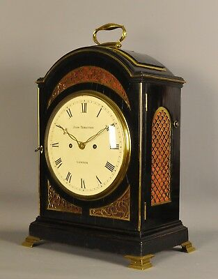 TRIPLE PAD TOP FUSEE BRACKET CLOCK - John Thwaites , London