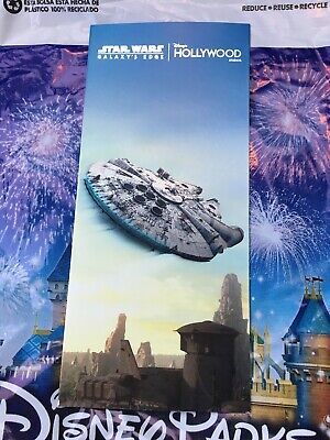 Disney Hollywood Studios Galaxy's Edge Opening Day Guide Map Millennium IN HAND