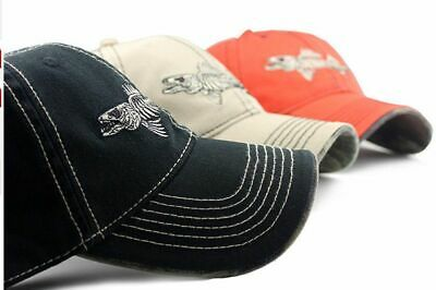 Fish Bone Adjustable Baseball Cap Sun Hats Skeleton Embroidery Casual Hat Cotton