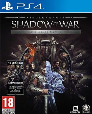 Middle Earth: Shadow Of War - Silver Edition (PS4) BRAND NEW SEALED PLAYSTATION