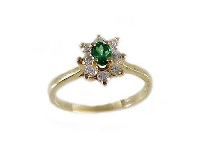 Gold Alexandrite Diamond Ring Antique 19thC Russia Natural ¼ct Color-Change 14kt